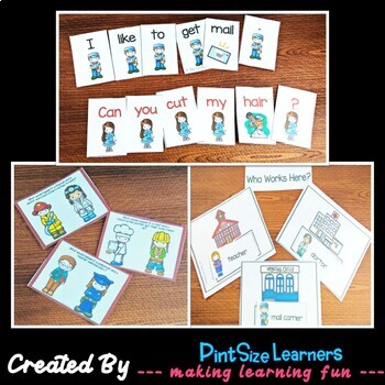 Community Helper Bundle for K and 1 Centers and Worksheets