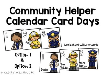 Community Helper Calendar Cards