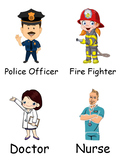 Community Helper Cards- Descriptions and Bingo game