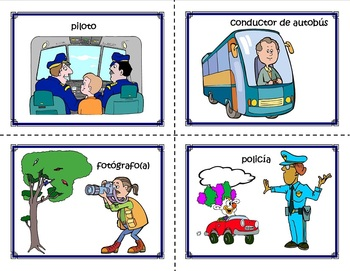 Community Helper Cards in both Spanish and English