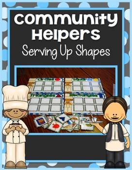 Community Helper Center ~ Serving Up Shapes