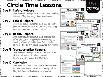 Community Helper Circle Time Unit