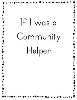 Community Helper Class Book