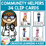 Community Helper Clip Cards