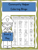 Community Helper Coloring Bingo