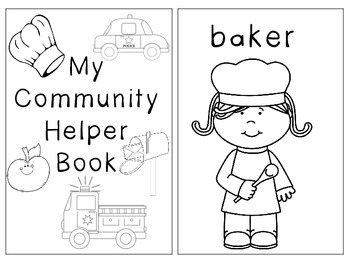 Community Helper Coloring Booklet
