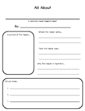 Community Helper/ Community Worker Research / All About / Interview organizer