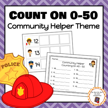 Community Helper Count On Strips and Worksheets - S
