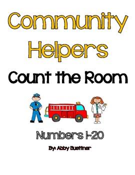 Community Helper Count the Room Math Center