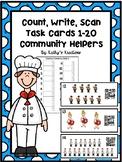 Community Helper Counting 1-20 (QR Code Option)