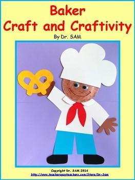 Community Helpers / Baker Craft and Craftivity
