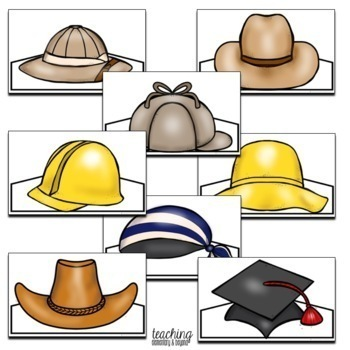 Community Helper Hats for Dramatic Play by Teaching Elementary and Beyond