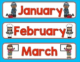 Community Helper Days of the Week and Months Cards