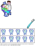 Community Helper Dentist Subtraction Practice Page