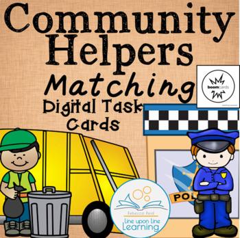 Community Helper Digital Task Cards