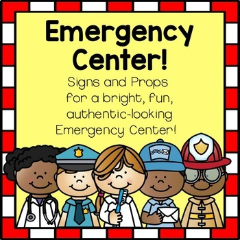 Emergency Center/Hospital/Police/FireStation Dramatic Play Set