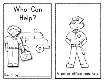 Community Helper Emergent Reader Book: WHO CAN HELP?