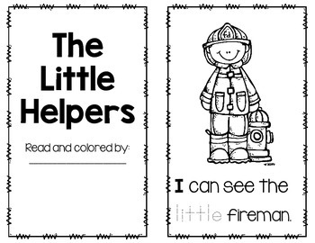 Community Helper Emergent reader FREEBIE