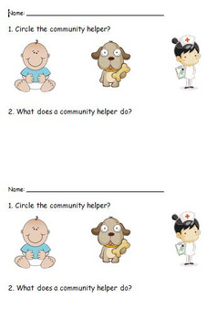 Community Helper Exit Slip