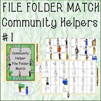 FILE FOLDER MATCHING Community Helpers #1