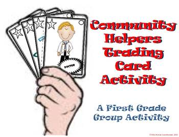 Community Helper First Grade Trading Card Activity
