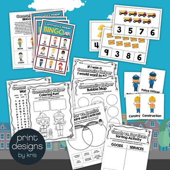 Community Helper Full Lesson Plan - PowerPoint, Worksheets, Games, Board