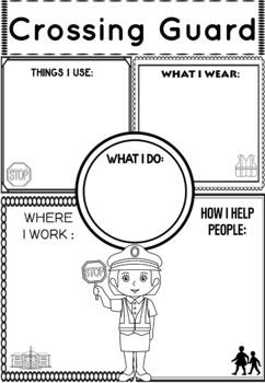 Community Helper Graphic Organizers / Worksheets: Crossing Guard