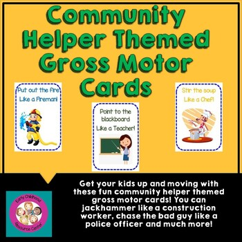 Community Helper Gross Motor Cards
