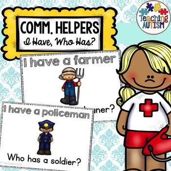 Community Helper I Have, Who Has? Game