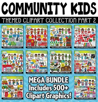 Community Helper Kids Clipart Mega Bundle Part 2