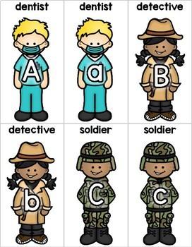 Community Helper Letter Matching | Alphabet Activity