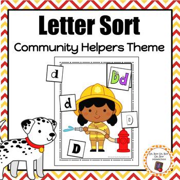 Community Helper Letter Sort - S