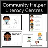 Community Helper Literacy Centers spelling matching tracin