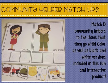 Community Helper Match Ups