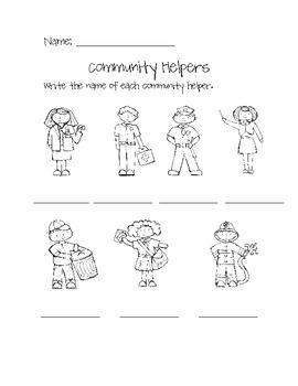 Community Helper Matching Cards