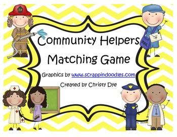Community Helper Matching Game