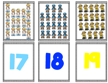 Community Helper Matching Numbers 11-20