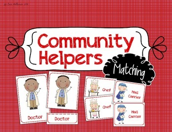 Community Helper Matching - Preschool Social Studies