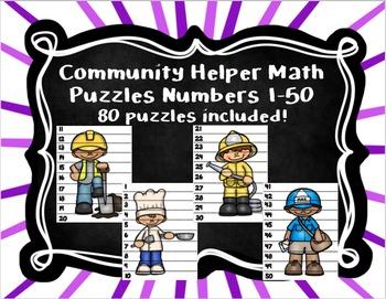 Community Helper Math Puzzles 1-50