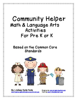 Community Helper Math and Language Arts Activities For Pre-K/K