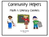 Community Helper Math and Literacy Games and Centers