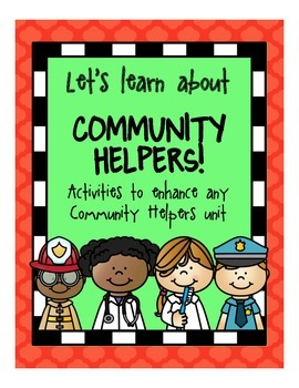 Community Helper Math, Literacy & Fun for PreK, K & Homeschool!