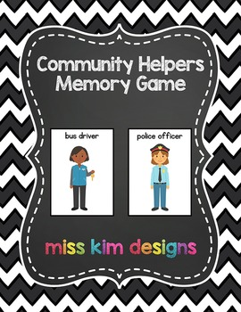 Community Helper Memory Game
