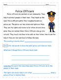 Community Helper Non Fiction Text and Comprehension Questions