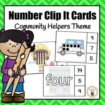 Community Helper Number (0-20) Clip It Cards