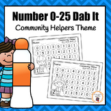 Community Helper Number (0-25) Dab It