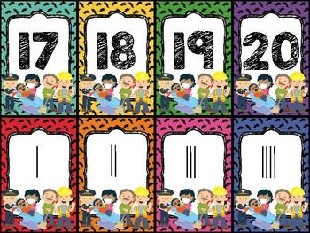 Community Helper Number Card Game 0-20
