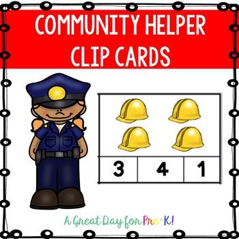 Community Helper Number Clip Cards