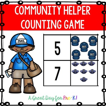 Community Helper Number Matching Game