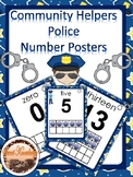 Community Helper Number Posters (Police Officer)
